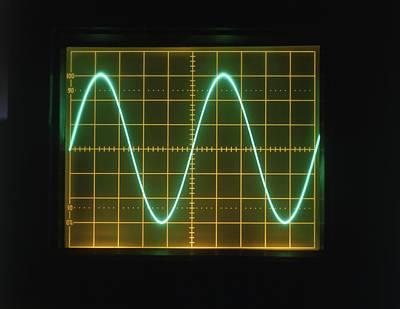Sine Photograph - Sine Wave Display On Oscilloscope Screen by Dorling Kindersley/uig