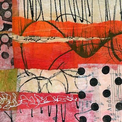 British Abstract Art Painting - Sing Along by Shuya Cheng