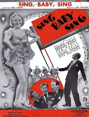 Three Stooges Photograph - Sing Baby Sing by Mel Thompson