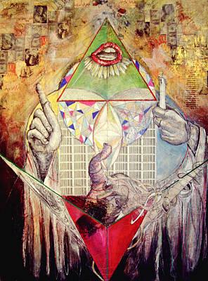 Illuminati Drawing - Sing by Carey Morton
