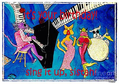 Mixed Media - Sing It Up by Lizi Beard-Ward