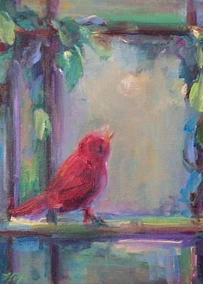 Painting - Sing Little Bird by Mary Wolf