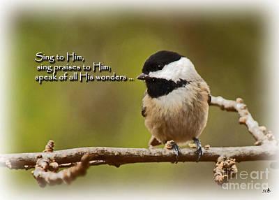 Sing To Him Art Print
