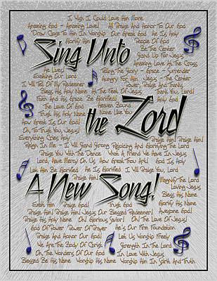 Digital Art - Sing Unto The Lord A New Song by Carolyn Marshall