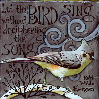 Titmouse Mixed Media - Song by Vickie Hallmark