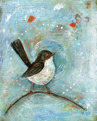 Wren Mixed Media - Sing Your Own Song by Diane Ackers