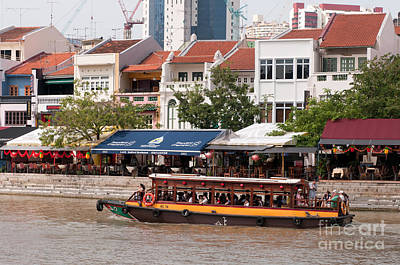 Singapore Boat Quay 04 Art Print by Rick Piper Photography