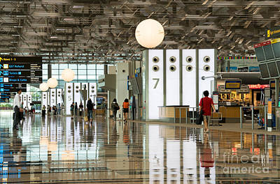 Concourse Photograph - Singapore Changi Airport 02 by Rick Piper Photography