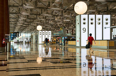 Airport Terminal Photograph - Singapore Changi Airport 03 by Rick Piper Photography