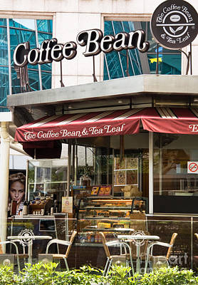 Photograph - Singapore Coffee Bean Cafe by Rick Piper Photography