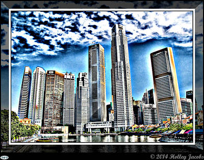 Digital Art - Singapore by Holley Jacobs