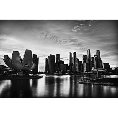 Singapore Marina Art Print