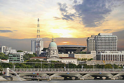 Outdoors Photograph - Singapore Parliament Building And Supreme Law Court  by David Gn