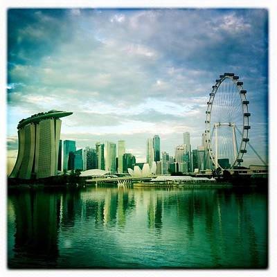 Art Prints Photograph - Singapore Skyline by Anshu Ajitsaria