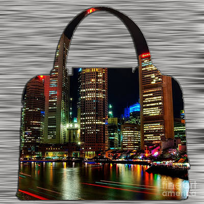 Mixed Media - Singapore Skyline In A Handbag by Marvin Blaine