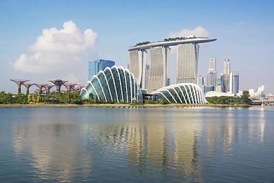 Singapore Skyline Art Print by Kokkai Ng