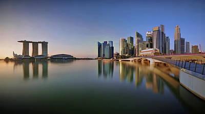 Singapore Skyline Panoramic View Art Print by © Copyright Kengoh8888