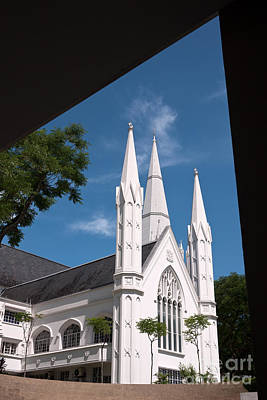 Photograph - Singapore St Andrews Cathedral 01 by Rick Piper Photography