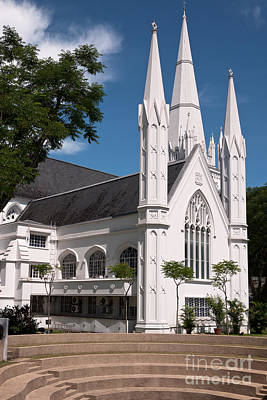 Photograph - Singapore St Andrews Cathedral 02 by Rick Piper Photography
