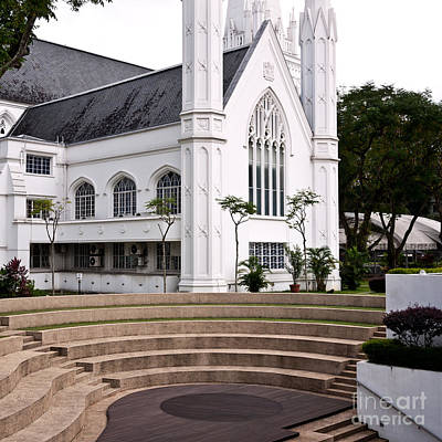 Photograph - Singapore St Andrews Cathedral 09 by Rick Piper Photography
