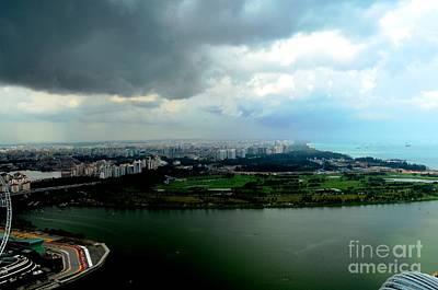 Cumulus Photograph - Singapore Storm by Greg Cross
