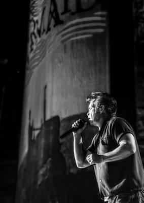 Singer John Mellencamp In Black And White Art Print by Jennifer Rondinelli Reilly - Fine Art Photography