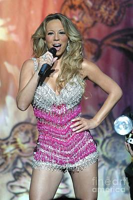 Singer Mariah Carey Print by Concert Photos