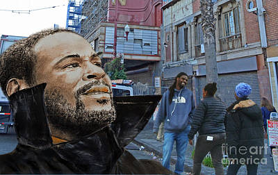 Drawing - Singer Marvin Gaye What's Going On by Jim Fitzpatrick