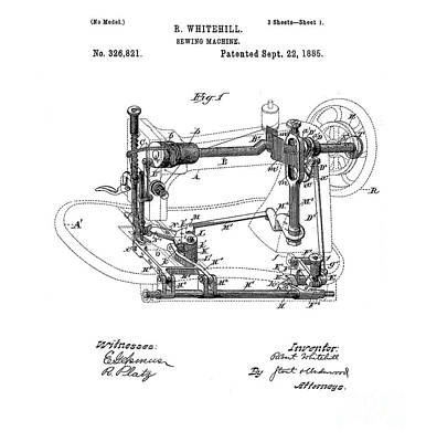 Whimsically Poetic Photographs - Singer Sewing Machine Model 27 - Patent Application by Doc Braham