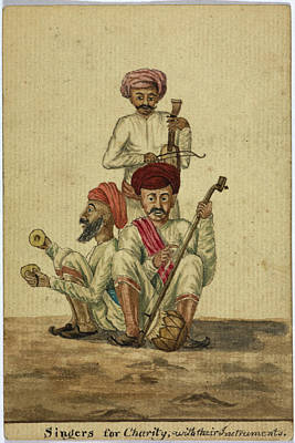 Singers Of Charity Art Print by British Library
