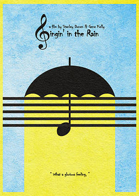 Umbrella Mixed Media - Singin' In The Rain by Ayse Deniz