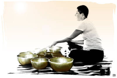 Photograph - Singing Bowls by John Meader