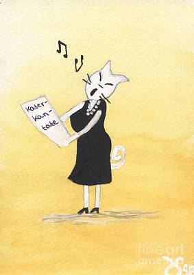 Singing Cat Original by Heidi Sieber