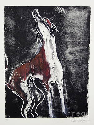 Greyhound Mixed Media - Singing For Joy by Cori Solomon