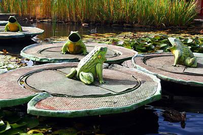 Singing Frogs Art Print