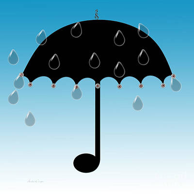Digital Art - Singing In The Rain by Andee Design