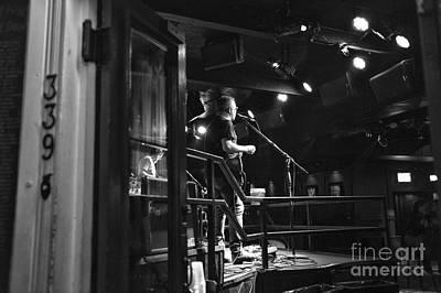 Photograph - Singing On Bourbon Street Mono by John Rizzuto