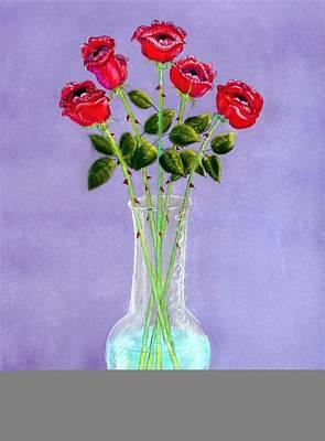 Singing Roses Original by R Neville Johnston