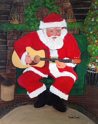 Singing Santa Original by Linda Clark