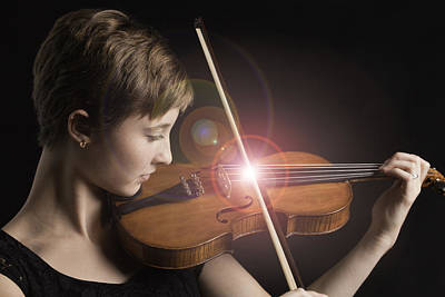 Photograph - Singing Strings Violin And Teenager by M K Miller