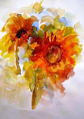 Singing Sunflowers Original