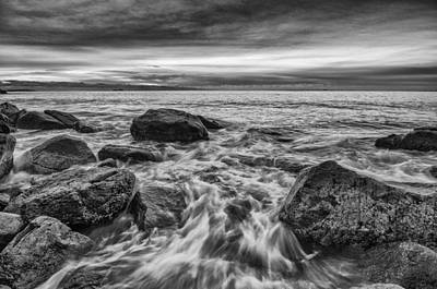 Photograph - Singing Sunrise B And W by Michael Hubley