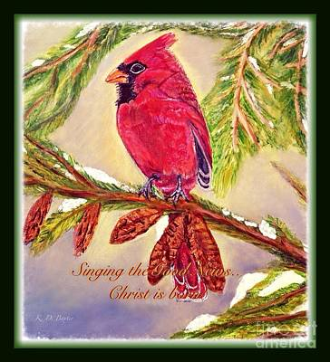 Painting - Singing The Good News With A Christmas Message by Kimberlee Baxter