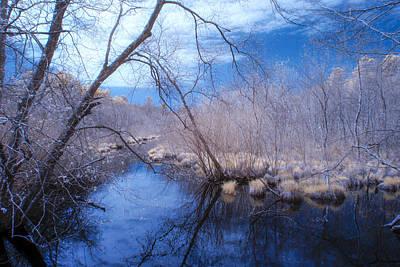 Singing The River Blues Art Print