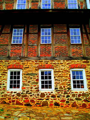 Photograph - Single Brothers House Old Salem by Randall Weidner
