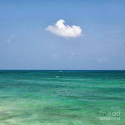 Single Cloud Over The Caribbean Art Print