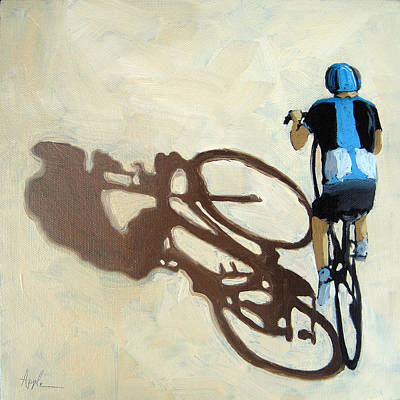 Single Focus Bicycle Art Art Print by Linda Apple