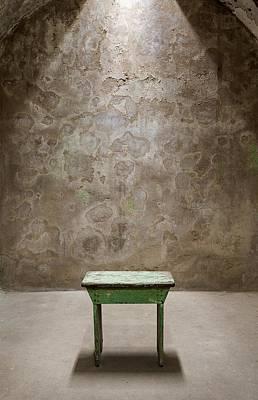 Green Table Art Print by Maureen Fahey