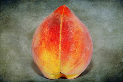 Art Print featuring the photograph Single Peach by Linda Segerson