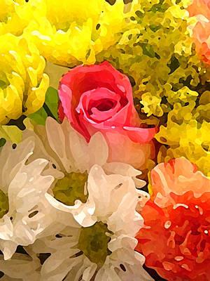 Floral Arrangement Digital Art - Single Rose Bouquet by Amy Vangsgard
